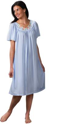 Shadowline Women's Petals 40 Inch Short Flutter Sleeve Waltz Gown