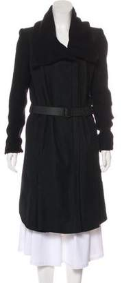 Helmut Lang Wool Long Coat