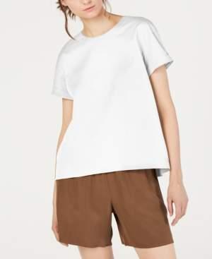 Eileen Fisher Organic Cotton Round-Neck Stretch Top