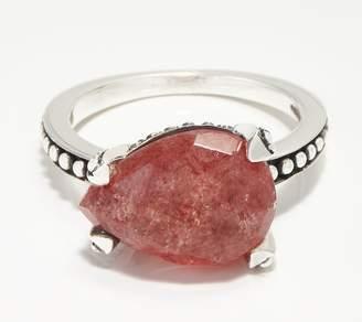 Stephen Dweck Sterling Silver Pear Gemstone Ring