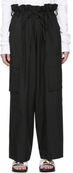 Black Cord Trousers
