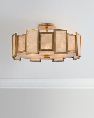 John-Richard Collection John Richard Collection 6-Light Calcite Semi-Flush Light