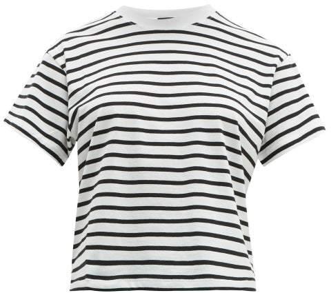 0ce9d3d41 Atm - Striped Cotton T Shirt - Womens - White Black