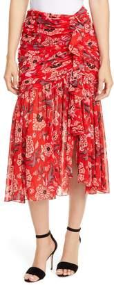Cinq à Sept Kathleen Floral High/Low Skirt