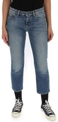 Saint Laurent Cropped Low Waist Jeans