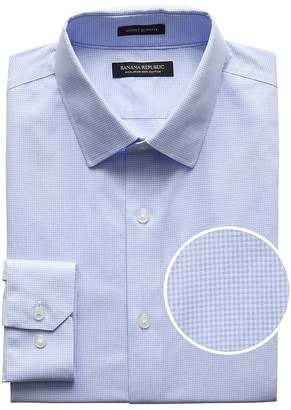 Banana Republic Grant Slim-Fit Non-Iron Gingham Dress Shirt