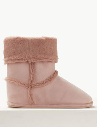 M&S CollectionMarks and Spencer Faux Fur Slipper Boots