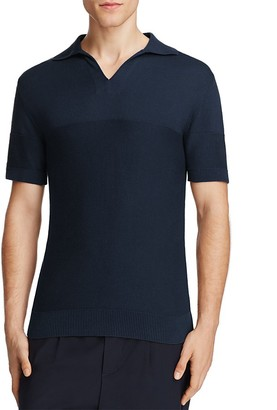 Eleventy Mid Sleeve Polo Sweater $295 thestylecure.com