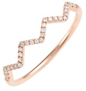 Women's Bony Levy 'Stackable' Zigzag Diamond Ring (Nordstrom Exclusive) $650 thestylecure.com
