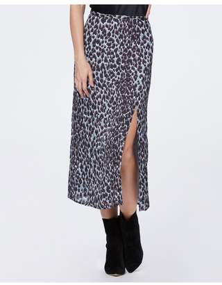 5a2befe0fd0f Paige Delfina Skirt - Blue Ice Psychedelic Leopard