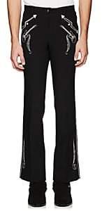 Takahiromiyashita theSoloist Men's Embroidered Boot-Cut Trousers - Black