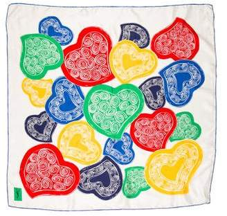 Saint Laurent Silk Printed Scarf