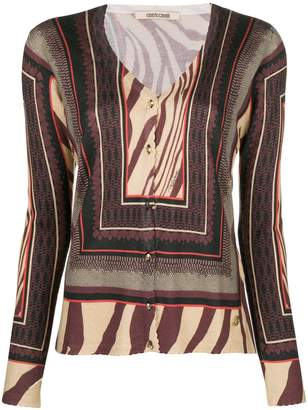 Roberto Cavalli patterned knit cardigan