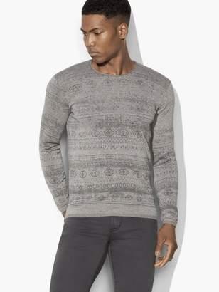 John Varvatos Fairisle Sweater