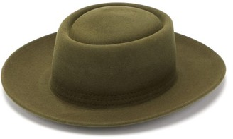 Lock & Co Hatters Bruton Felt Fedora Hat - Mens - Green