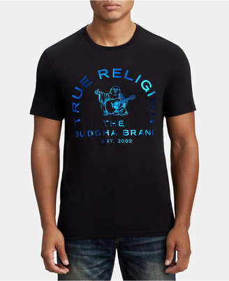 True Religion Mens Metallic Buddha Graphic T-Shirt