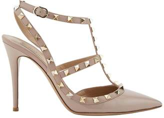 Valentino Women's Rockstud Patent Leather Caged Pumps $995 thestylecure.com