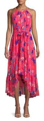 Vince Camuto Printed Chiffon Halter Dress