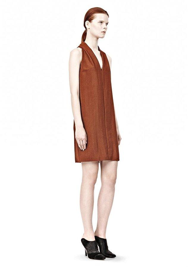 Alexander Wang Folded V-Neck Tank Dress