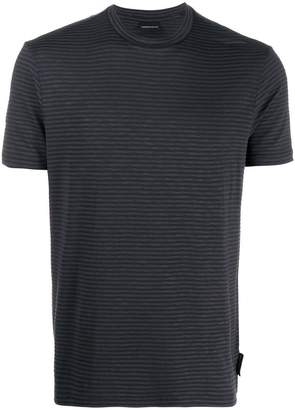 Emporio Armani round neck striped T-shirt