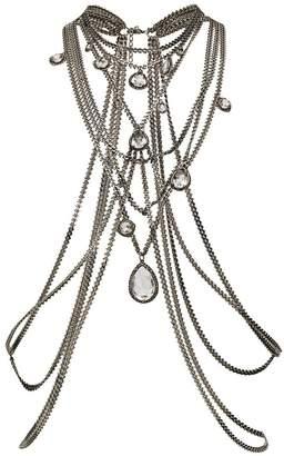 Alexander McQueen multi-chain harness necklace