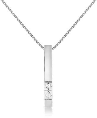 Forzieri 0.02 ct Diamond Bar Pendant Necklace