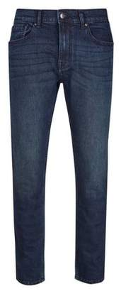 Burton Mens Blue Dark Coated Greencast Blake Slim Fit Jeans