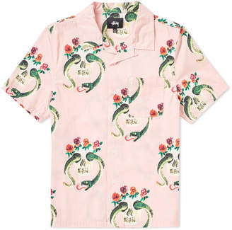 Stussy Short Sleeve Skull Pattern Shirt