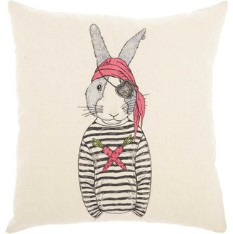 Nourison Trendy, Hip, & New Age Pirate Rabbit Natural Throw Pillow