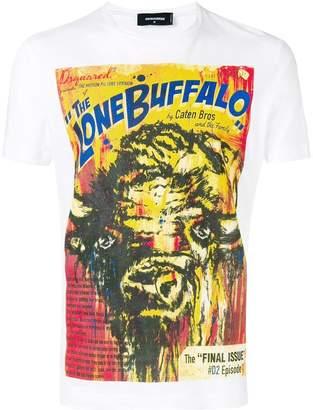 DSQUARED2 The Lone Buffalo print T-shirt