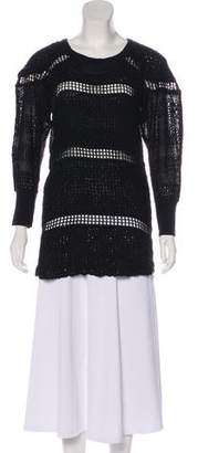 Isabel Marant Long Sleeve Eyelet Tunic