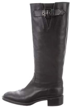 Tod's Leather Round-Toe Boots Black Leather Round-Toe Boots