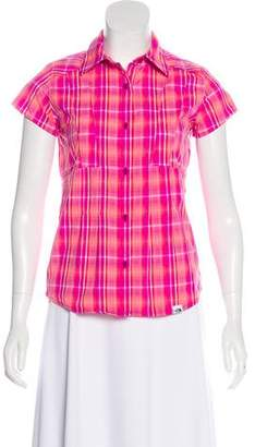 The North Face Plaid Button-Up Top