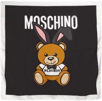 Moschino Teddy Playboy Silk Twill Scarf