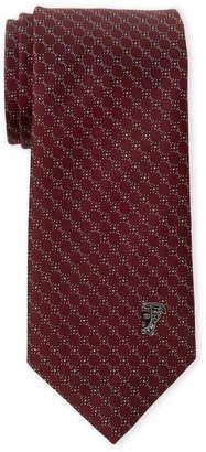 Versace Red Circle Silk Tie