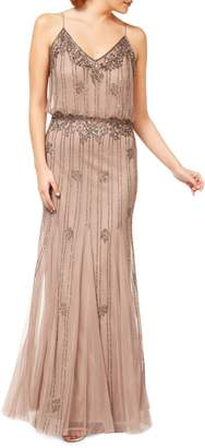 Occasion By Dex Beaded V-Neck Gown