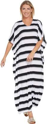 Joan Rivers Classics Collection Joan Rivers Petite Length Bold Striped Knit Caftan