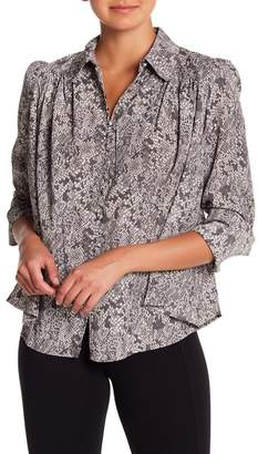 Philosophy Apparel Snake Patterned Long Sleeve Button Down Shirt
