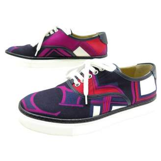 Hermes Pink Cloth Trainers