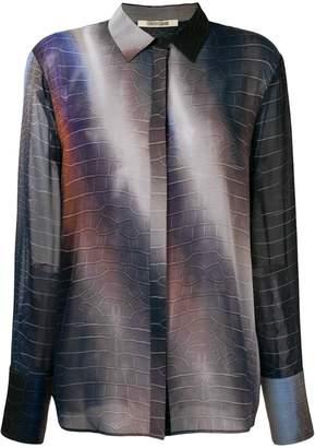 Roberto Cavalli space-ombré shirt
