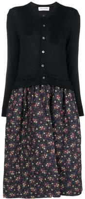 Comme des Garcons (コム デ ギャルソン) - Comme Des Garçons Girl floral quilted cardigan dress