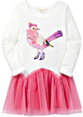 Baby Sara Fancy-Bird Drop-Waist Dress