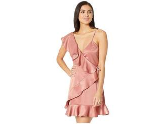 BB Dakota Limelight Charmeuse Ruffle Dress