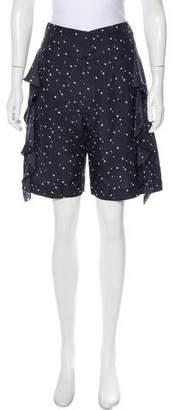Marni High-Rise Silk Shorts