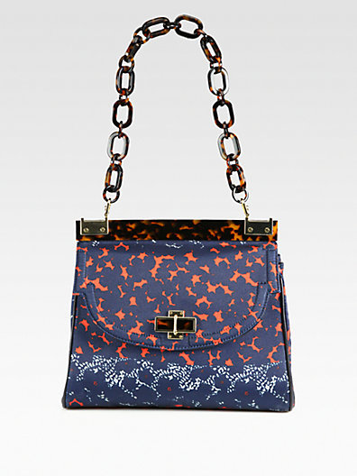 Tory Burch Printed Canvas Shoulder Bag