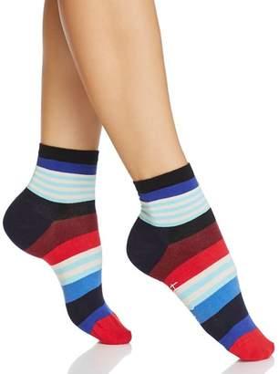 Happy Socks Multi-Stripe Ankle Socks