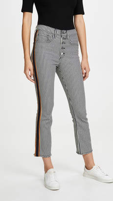 Veronica Beard Jean Carolyn Baby Bootcut with Tux Stripes