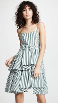 ANAÏS JOURDEN Striped Asymmetric Dress