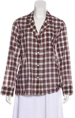 Jenni Kayne Plaid Button-Up Top w/ Tags