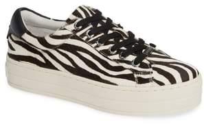 J/Slides Hippie Genuine Calf Hair Platform Sneaker